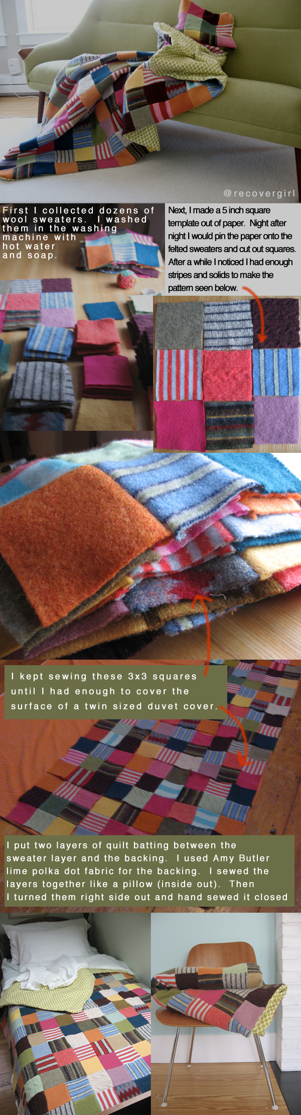 Felted Sweater Blanket Recovergirl