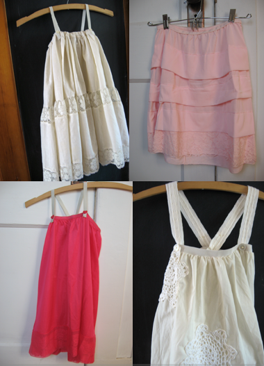 playclothes from vintage slips