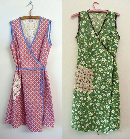 textured-leaf-two-dresses