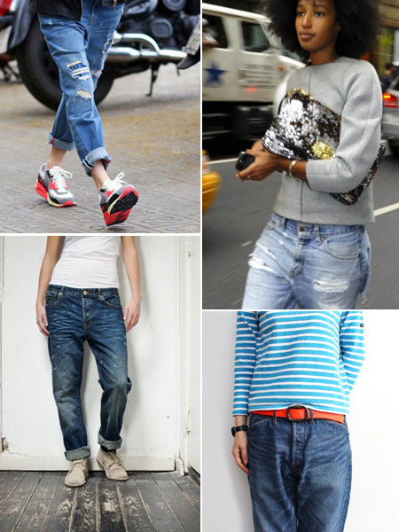 loose jeans, slouchy jeans, boyfriend jeans