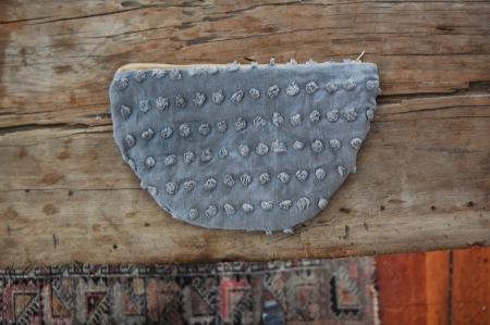 half moon pouch grey