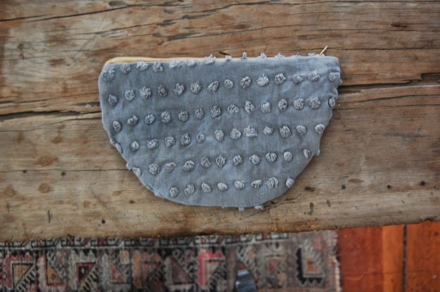 half moon pouch grey