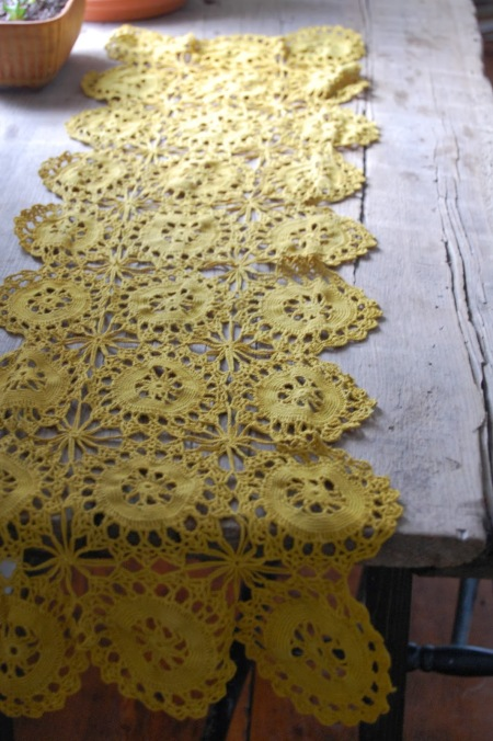 mustard table runner