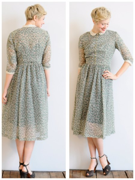 short green bm dress