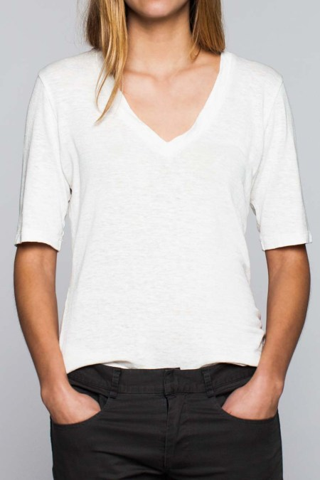 21- white v neck
