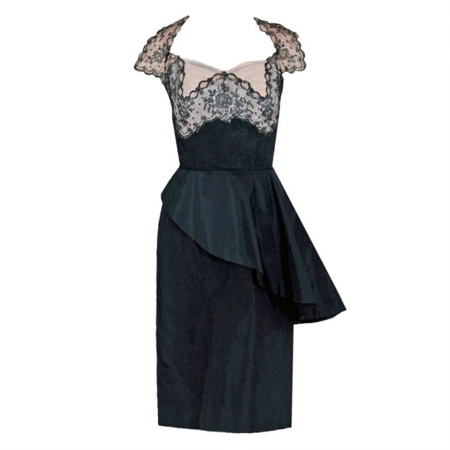 1st dibs 1940s lace and silk