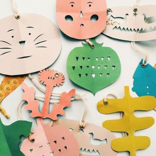 paper cut ornaments