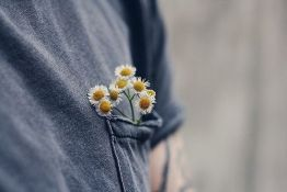 tshirt pocket flowers