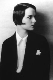 Louise Brooks Haircut in Suit
