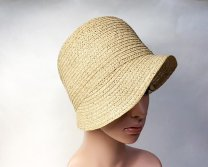 Vintage Straw Cloche hat