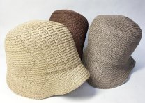 Vintage straw cloche hats.