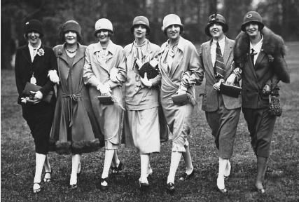 Women in Coats 1920s